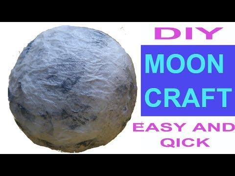 MOON CRAFT | EASY MOON PROJECT | MOON CRAFTS FOR KIDS | MOON CRAFT IDEAS | CREATIVE MOM | diy  MOON