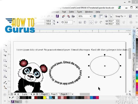 How to Straighten Text in CorelDRAW - a Corel Draw x8 x7 x6 Text ...
