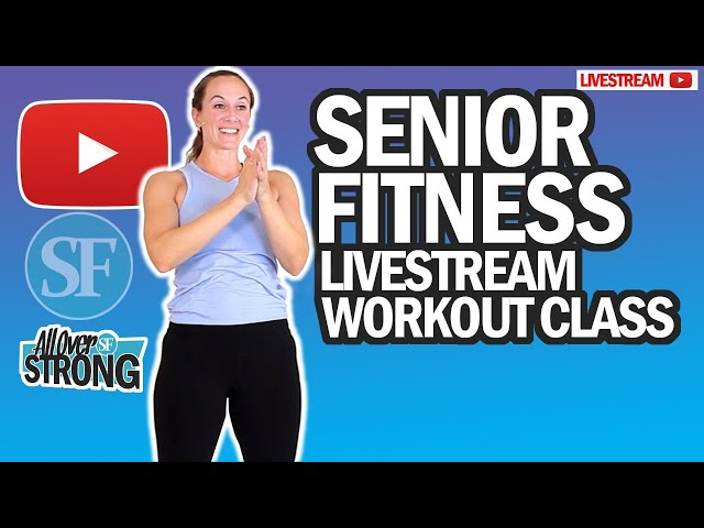 HIIT And Abs Workout For Seniors, Seated And Standing | Livestream Class | No Equipment Needed