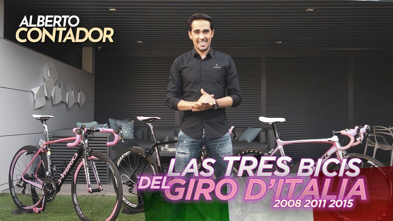 Las tres bicicletas conmemorativas del Giro d'Italia   Alberto Contador