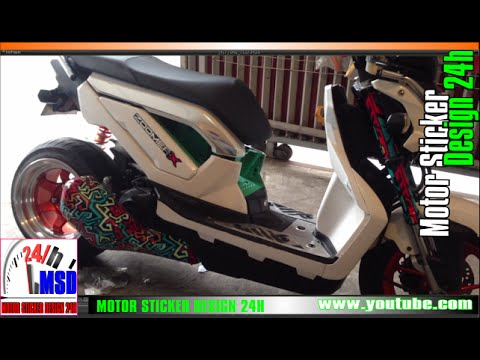 honda zoomer x 2015 zoomer x 125 new modified rim style 1 youtube. Black Bedroom Furniture Sets. Home Design Ideas