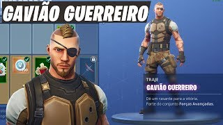 NEW GAVIÃO WARRIOR SKIN (BATTLEHAWK) | Fortnite Battle Royale