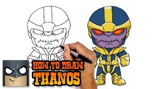How to Draw Thanos (Step by Step Drawing Tutorial)