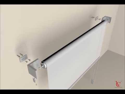 CASA VALENTINA - UK - Roll blinds mounting Vega50 Sirio Titania