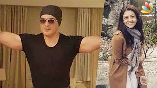 ajith kumar s latest look from his thala 57 shooting goes viral   kajal agarwal
