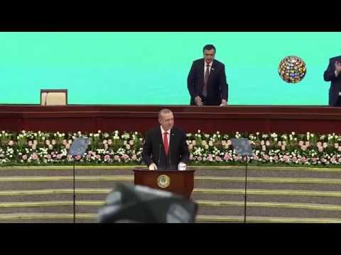 Erdoğan o şiiri okudu Özbekistan Parlamentosu çoştu