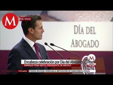 Enrique Pena Nieto encabeza celebracion por Dia del Abogado