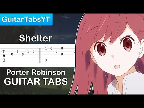 Porter Robinson - Shelter Guitar Tutorial | Guitar Lesson + TABS