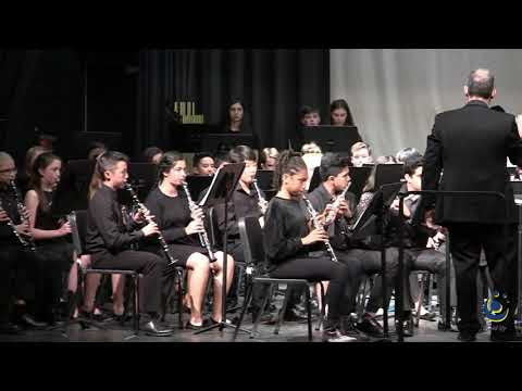 Davis Drive Middle School 8th Grade Band performs Tournament on 3/19/2019