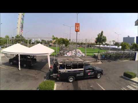 สร้างสนามฟุตบอลหญ้าเทียม ภายใน3วัน โดย GreenyGrass