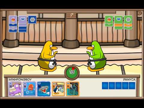 Club Penguin - Scored 25 Cards In 1 Card-Jitsu Game !!! ( Plus Special Ending Move At The End ) - HD
