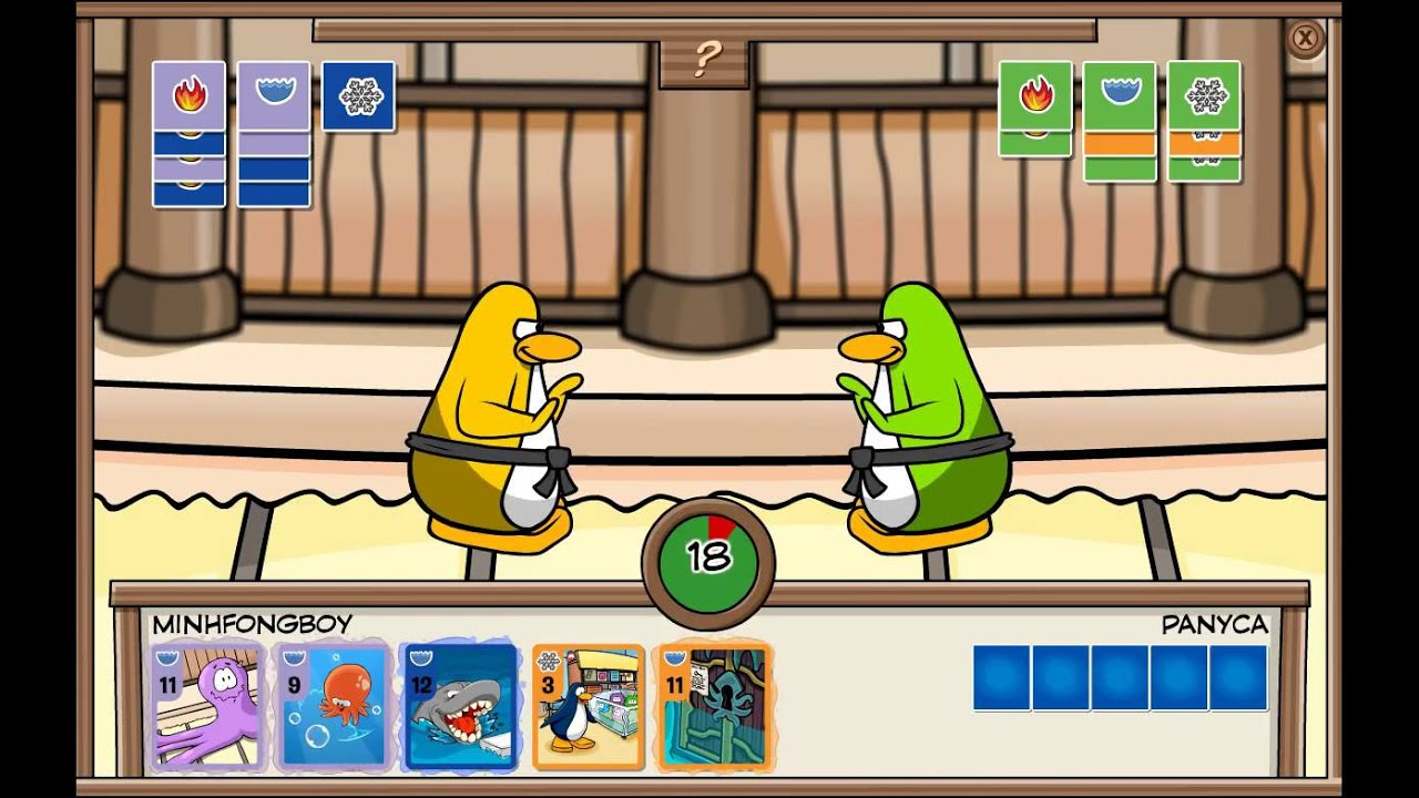 club penguin cards how to play
