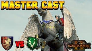 Master Cast: Aerocrastic (Wood Elves) vs. Rightest (Bretonnia) | Total War: Warhammer 2