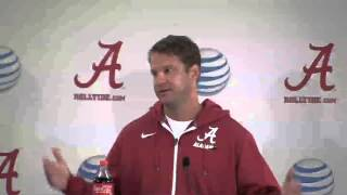 Lane Kiffin says quarterbacks will decide on the field who will start during press conference