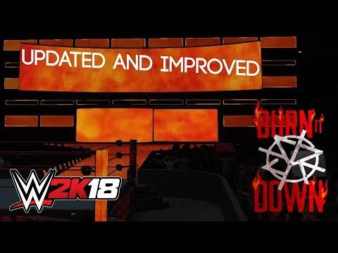 UPDATED BURN IT DOWN ENTRANCE! | SETH ROLLINS WWE 2K18 PC MOD