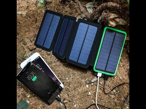 Fordable Dual USB 4-Panel Solar Power Bank - Get Energy From Sunlight