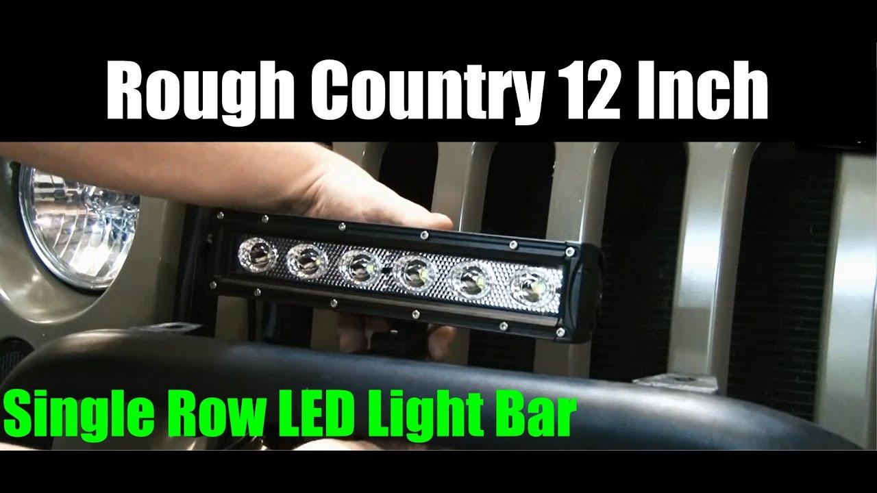 Single Row Led Light Bar >> Rough Country LED Light Bar 12 Inch Single Row Adjustable Base Mount - 1877 774 6473 - YouTube