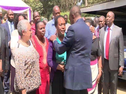 H.E. Uhuru condoles with Hellen Nkaissery