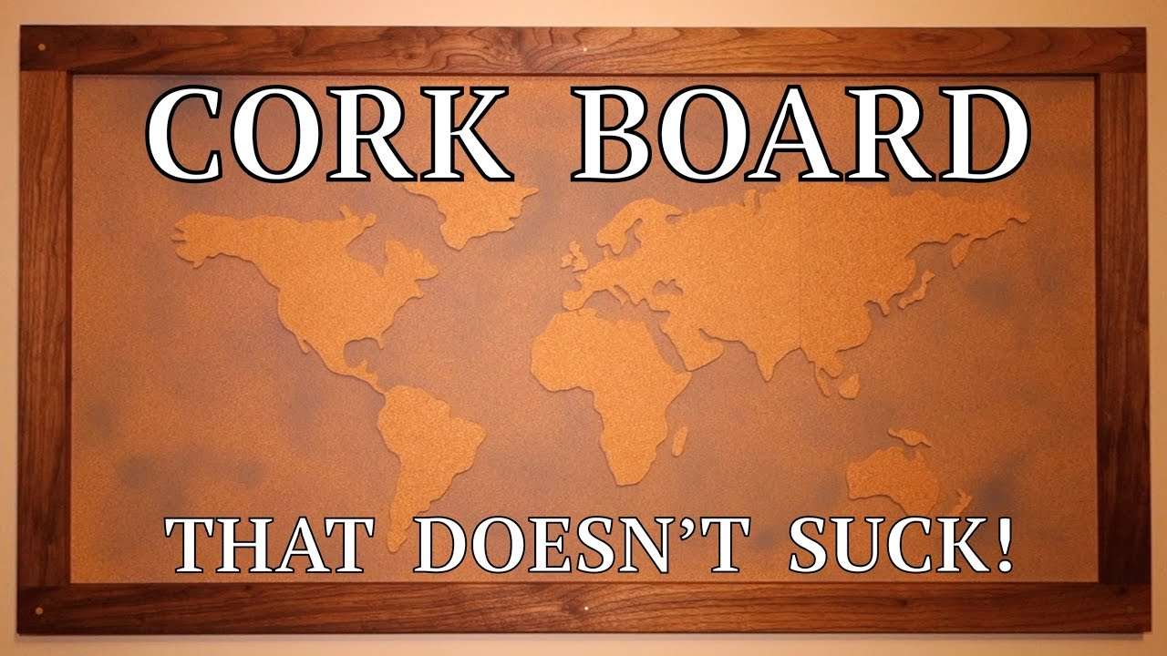 How to take a cork board to the next level diy youtube how to take a cork board to the next level diy gumiabroncs Gallery