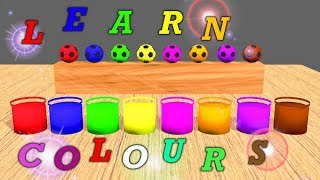 Learn Colors with Surprise Soccer Balls - Magic Liquids for Children Toddlers *Fun&Play Kids*