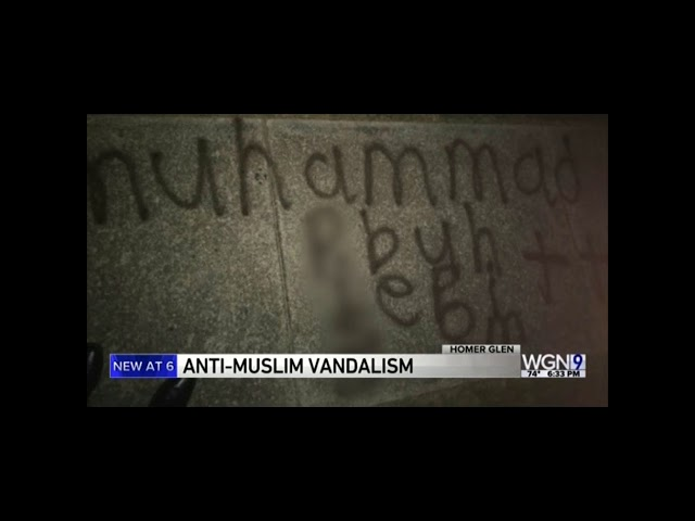 Video: CAIR-Chicago Calls for Hate Crime Probe of Islamophobic Graffiti Targeting Muslim Home