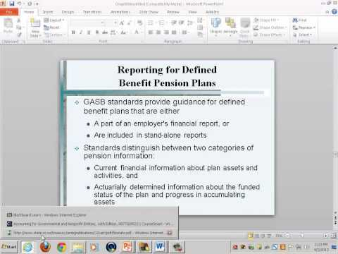 Government & Non-Profit Accounting: Accounting for Fiduciary