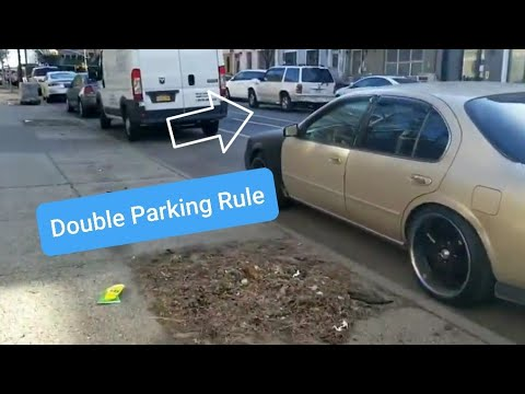 NYC Double parking Sanitation Street Cleaning Rules / Rule Of The Road / BROOKLYN NY