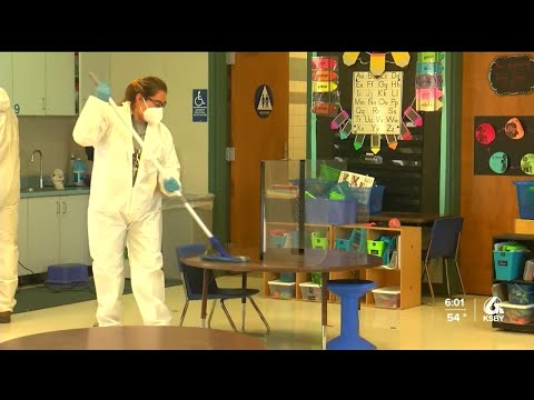 Classroom disinfection gets underway at Winifred Pifer Elementary School in Paso Robles