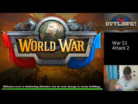 DomiNations War 51 Attack 2 - Excellent Industrial War Base