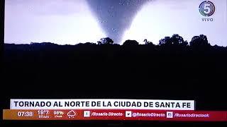 Tornado en Santa Fe Argentina.