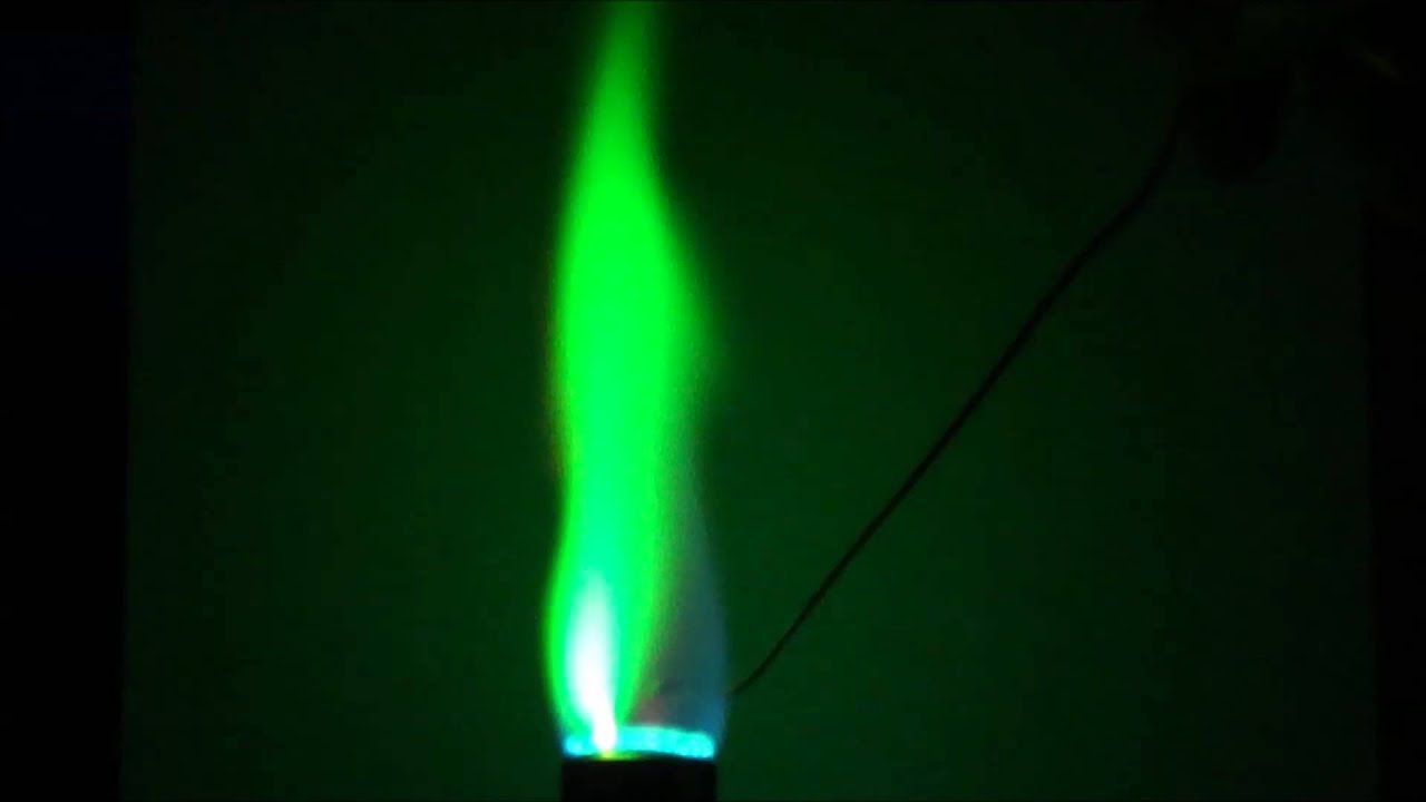 Copper acetate flame test youtube