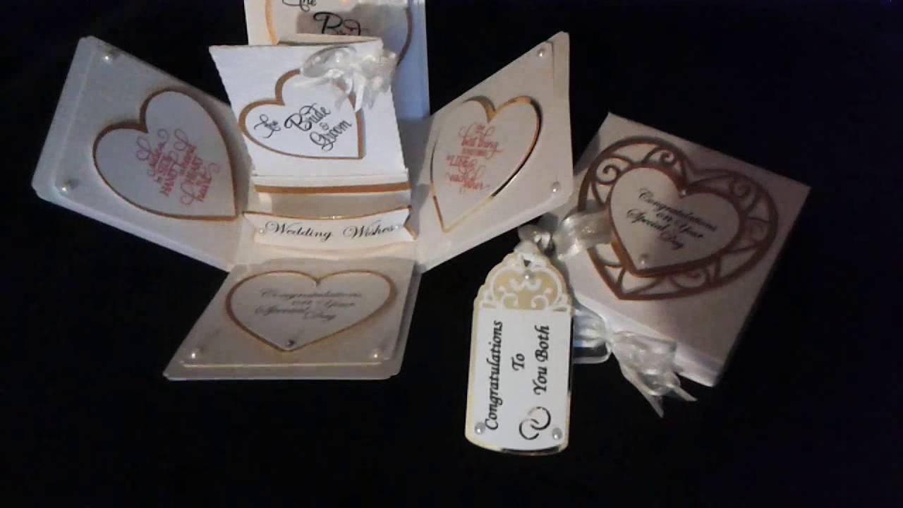 Wedding Exploding Card Box Craft Ideas Youtube