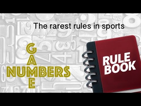 THE RAREST RULES IN SPORTS – NUMBERS GAME
