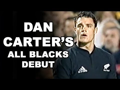 Dan Carter's All Blacks Debut