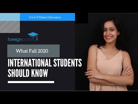 What Fall 2020 International Students Should Know during Covid19  Pandemic?    [ForeignAdmits]