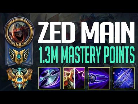 LL STYLISH ZED MONTAGE - NA CHALLENGER ZED 1.3 MILLION MASTERY POINTS - ZED MAIN