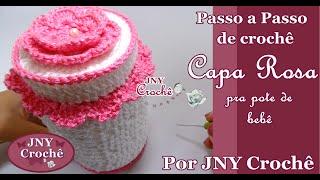 Capa de crochê para pote de bebê por JNY Crochê