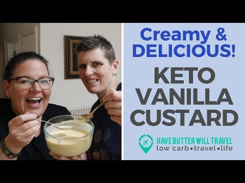 Keto Vanilla Custard | Quick and Easy Keto Dessert