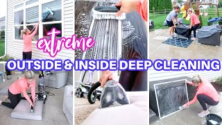 *EXTREME OUTSIDE & INSIDE CLEAN WITH ME 2021  ALL DAY SPEED CLEANING MOTIVATION   DEEP CLEAN ROUTINE