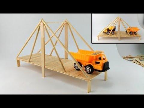How to Make Bridge Using Popsicle Sticks / Suspension Bridge