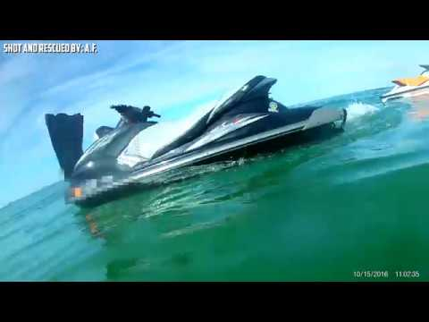 Wild Jet Ski Accident and Rescue!  Caution Graphic!!