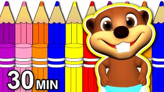 Back 2 School Special | 30 Minute Kids Learning Video, Kindergarten Songs