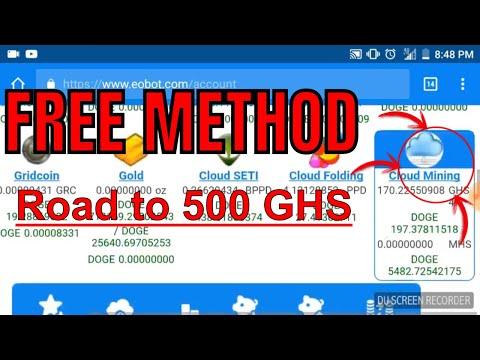 Eobot Cloud Mining - Road To 500 Ghs! (Free Method)