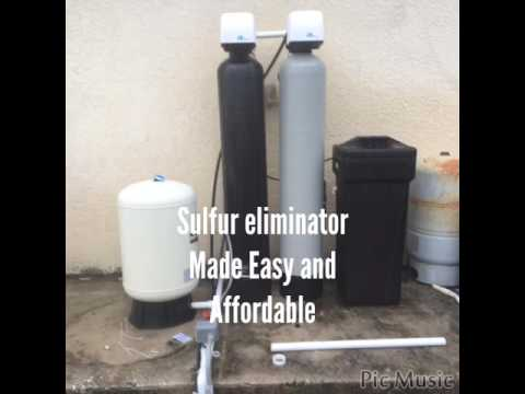 how to remove sulfur smell from water