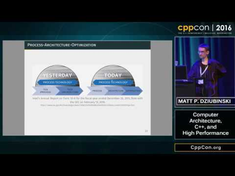 "CppCon 2016: Matt P. Dziubinski ""Computer Architecture, C++, and High Performance"""