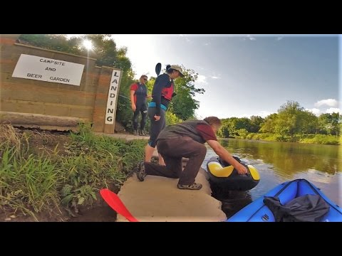 100 Mile 5 day Canoe Trip Down The River Wye - Day 2