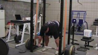 Brian Shaw (895 lb x 5) Reverse Band Deadlift Training