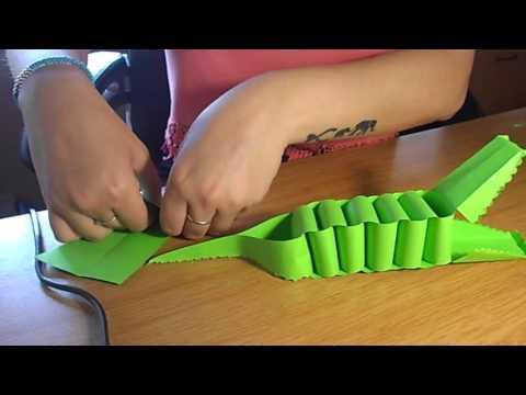 Paper crocodile video