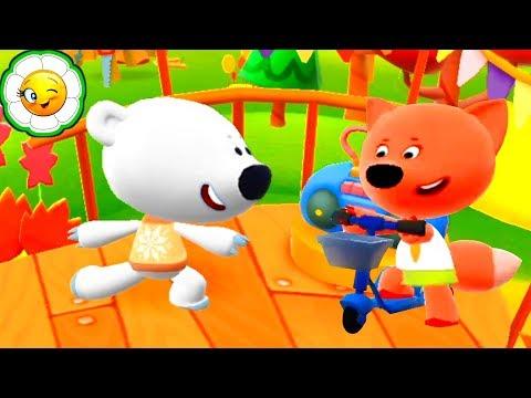 Ми-ми-мишки Игра #2  Приключения Лисички и Тучки в интерактивном мире!