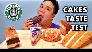 CAKES TASTE TEST | Starbucks Coffee | Cheat Day #47